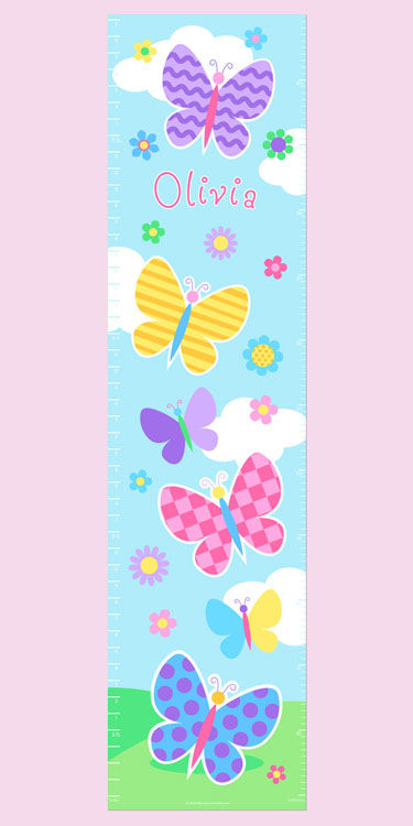 Olive Kids Butterfly Garden Growth Chart Decal - Wall Sticker Outlet