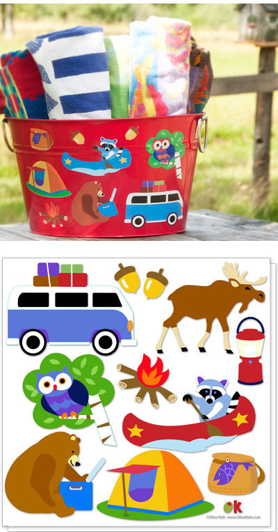 Olive Kids Camping Peel and Stick Decals - Wall Sticker Outlet