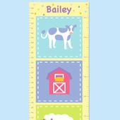 Olive Kids Country Baby Growth Chart Decal