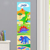 Olive Kids Dinosaur Land Growth Chart Decal