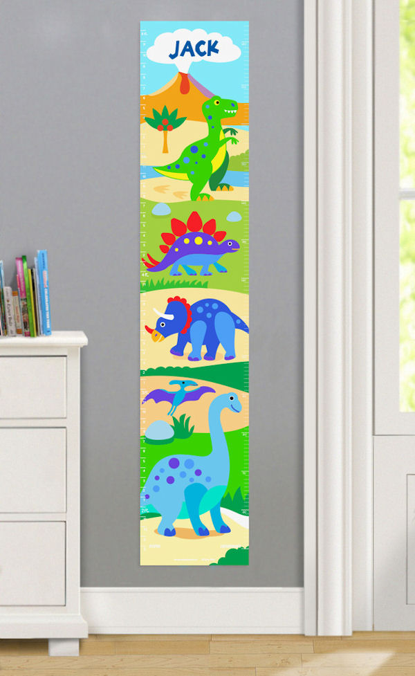Olive Kids Dinosaur Land Growth Chart Decal - Wall Sticker Outlet
