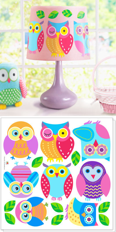 Olive Kids Hoot Peel and Stick Decals - Wall Sticker Outlet