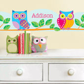 Owls Hoot Personalized Wall Border