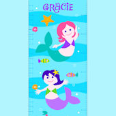 Olive Kids Mermaids Growth Chart Decal
