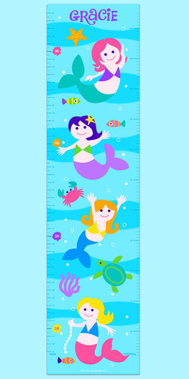 Olive Kids Mermaids Growth Chart Decal - Wall Sticker Outlet