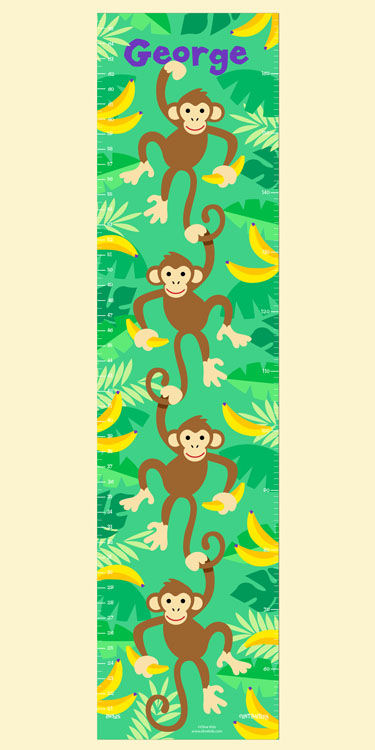 Olive Kids Monkeys Growth Chart Decal - Wall Sticker Outlet