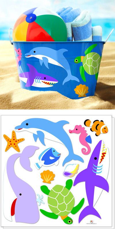 Olive Kids Ocean Peel and Stick Decals - Wall Sticker Outlet