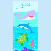 Olive Kids Ocean Growth Chart Decal