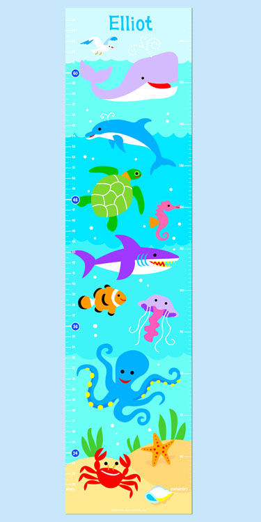 Olive Kids Ocean Growth Chart Decal - Wall Sticker Outlet