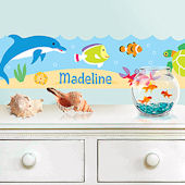 Ocean Personalized Wall Border