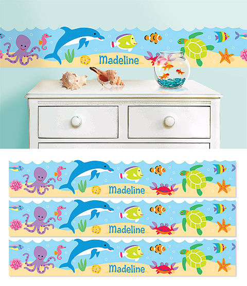 Ocean Personalized Wall Border - Wall Sticker Outlet