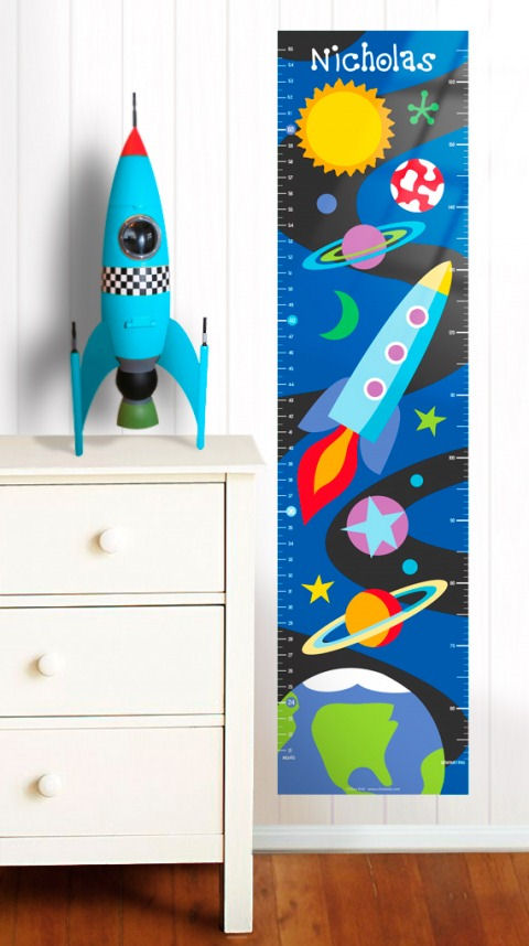Olive Kids Out of This World Growth Chart Decal - Wall Sticker Outlet