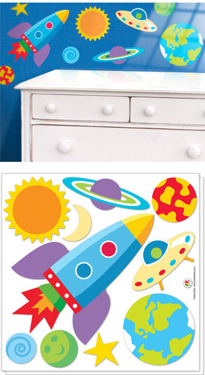 Olive Kids Out Of This World  Decals - Wall Sticker Outlet