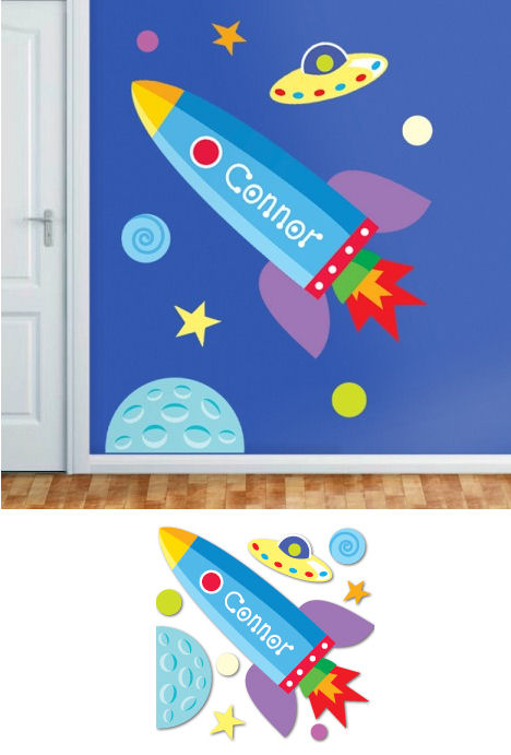 Out of This World Personalized Jumbo Wall Mural - Wall Sticker Outlet