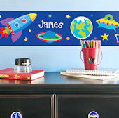 Out of This World Personalized Wall Border