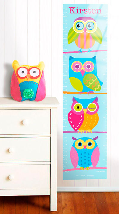 Olive Kids Owls Hoot Growth Chart Decal - Wall Sticker Outlet