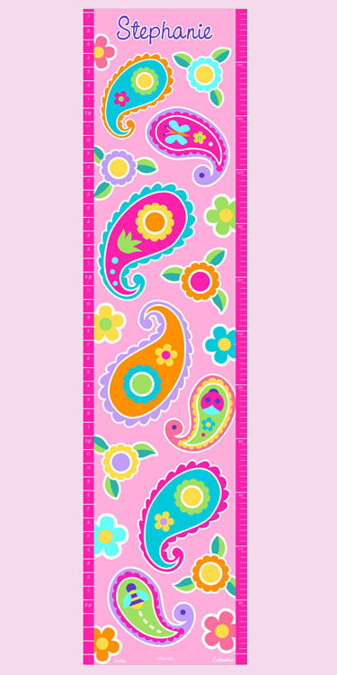 Olive Kids Paisley Please Growth Chart Decal - Wall Sticker Outlet