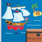 Pirates Personalized Jumbo Wall Mural