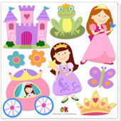 Olive Kids Princess Peel and Stick Decals