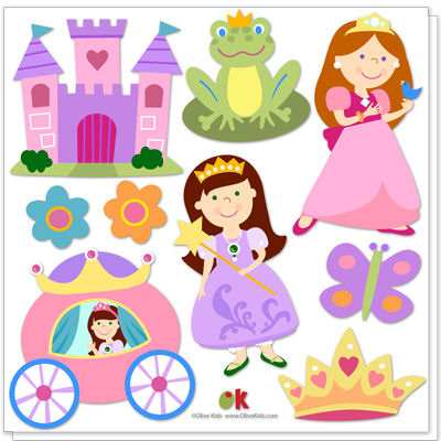 Olive Kids Princess Peel and Stick Decals - Wall Sticker Outlet