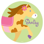 Patchwork Ponies Personalized Wall Dotz