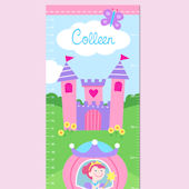 Olive Kids Princess Growth Chart Decal