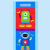 Olive Kids Robots Growth Chart Decal