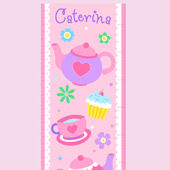 Olive Kids Tea Party Growth Chart Decal