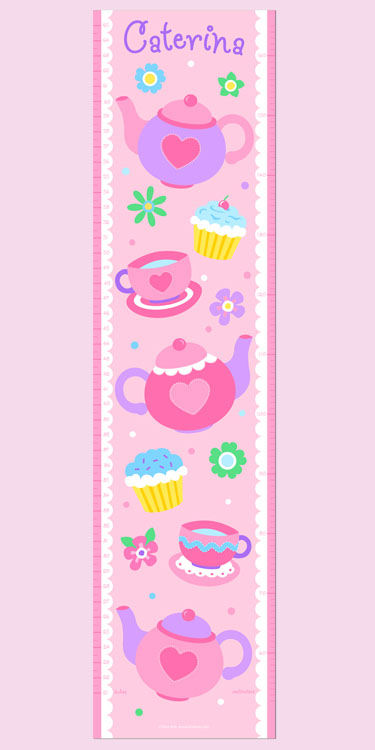 Olive Kids Tea Party Growth Chart Decal - Wall Sticker Outlet
