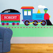 Trains Planes Trucks Personalized Jumbo Wall Mural