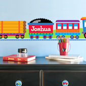 Trains Personalized Wall Border