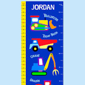 Olive Kids Under Construction Growth Chart Decal
