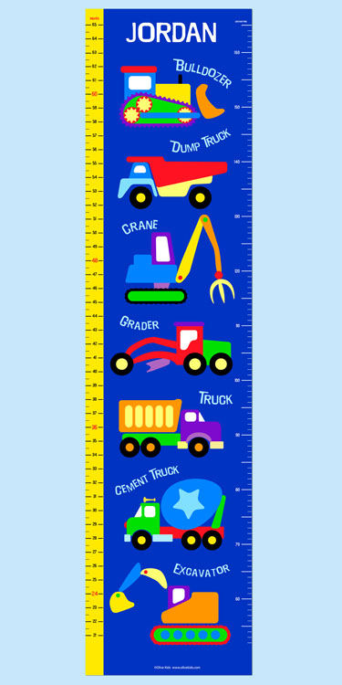 Olive Kids Under Construction Growth Chart Decal - Wall Sticker Outlet