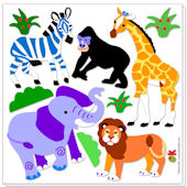 Olive Kids Wild Animals Peel and Stick Decal