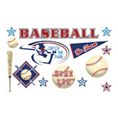 Olee Kids Baseball Sports Pack Peel and Stick
