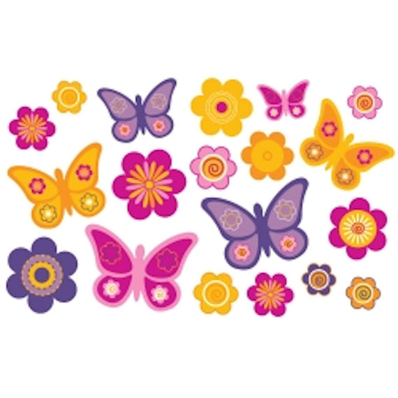 Olee Kids Butterfly Deco Pack Peel And Stick   Wall Sticker Outlet Part 71