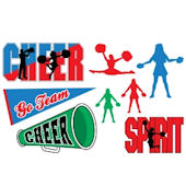 Olee Kids Cheer Sports Pack Peel and Stick
