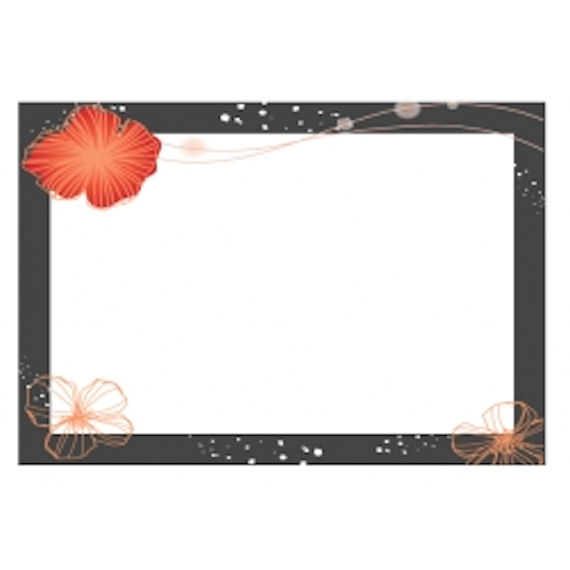 Dry Erase Board with Floral Border  Peel and Stick - Wall Sticker Outlet