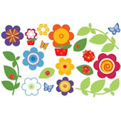 Olee Kids Flower  Deco Pack Peel and Stick