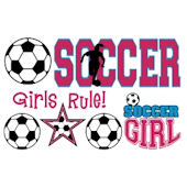 Olee Kids Girls Soccer Sports Pack Peel and Stick