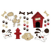 Olee Kids Puppies  Deco Pack Peel and Stick