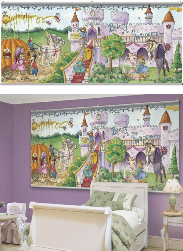 Once upon a time fairy tales minute mural for Fairy tale wall mural