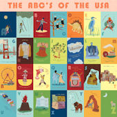 The ABCs of the USA Mural Decal