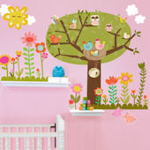 Bloomin Birdies Medium Peel and Place Wall Decals