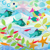 Friendly Fish Mural Decal
