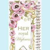 Her Royal Highness Growth Chart Canvas Wall Art