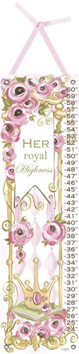 Her Royal Highness Growth Chart Canvas Wall Art - Wall Sticker Outlet
