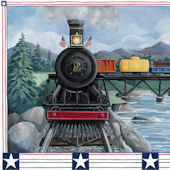 Locomotive  Personalized Canvas Wall Art