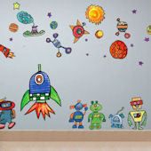 Space World Peel and Place Wall Decals