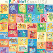 Patchwork That is the USA Mural Decal